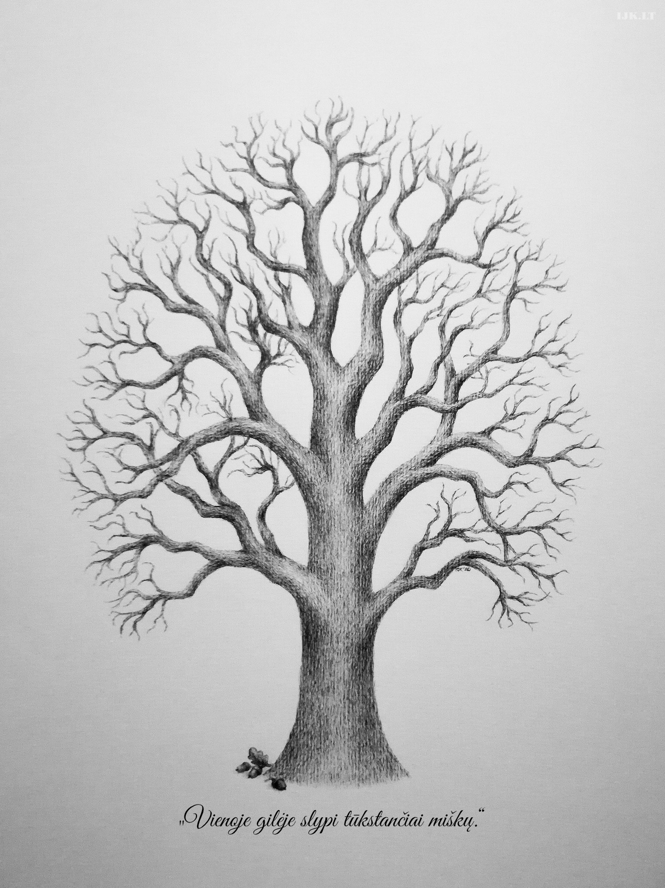 Picture for guests fingerprints and wishes, tree, oak, quote, alternative guest book